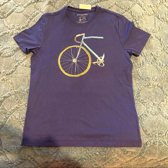 Banana Republic Blue Eco T-Shirt Bike M